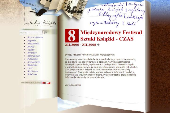 Strona www Sztuka Książki, Czas