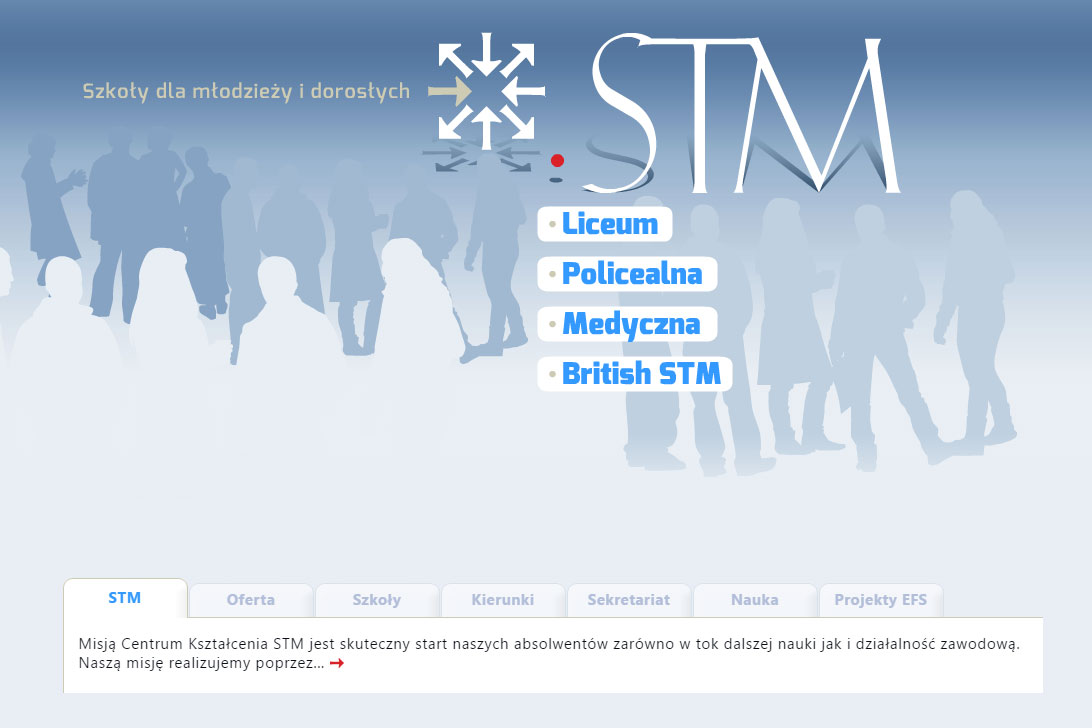 Strona www Szkół STM