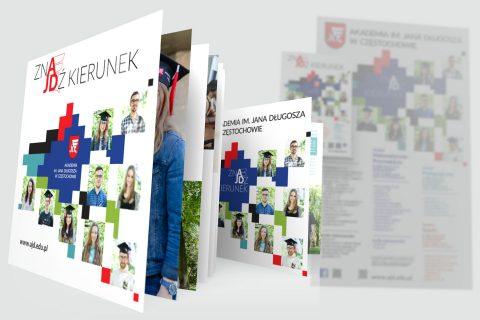 Rekrutacja AJD 2017, broszura, ulotka, plakat, rollup
